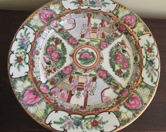 Chinese Rose Medallion Hand Painted Porcelain Plate