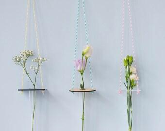 Hanging Vase - Minimal Hanging Vase, Test Tube Vase, Party Decoration, Wedding Decor, Gift for Her, Minimal Wedding,