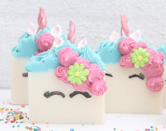 Unicorn Soap, Handmade Soap, Sweet Bella The Unicorn, Party Favors, Kids Party Favors, Birthday, Gifts For Her, Gifts For Mom