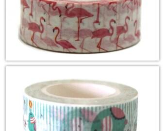 Washi paper masking tape - circus icons