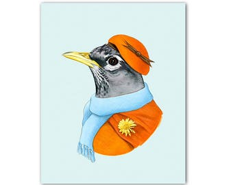 Robin Lady  art print by Ryan Berkley 5x7