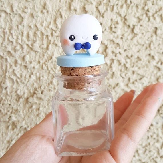 Customizable Boy Tooth Fairy Box, Tooth Fairy Jar, Tooth Fairy Keepsake, First Tooth, Tooth Fairy, Trinket Box, Keepsake, Polymer Clay