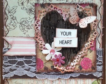 Handmade Thank You Card Your Heart is so Kind