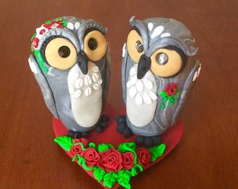 Owl Lovers Wedding Cake Topper
