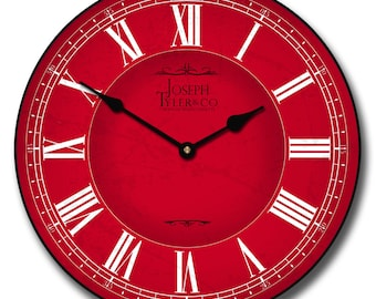 Classic Red Wall Clock