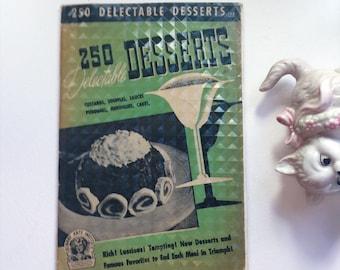 VTG mid century dessert cookbook