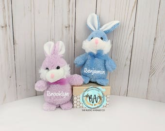 Plush Bunny·Personalized Easter Bunny·Easter Gift·Easter Basket Filler·Custom Bunny·Monogram Bunny·Personalized Bunny·Custom Plush