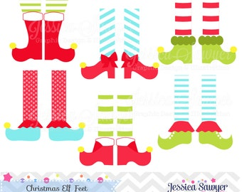 INSTANT DOWNLOAD, Elf feet clipart or christmas clipart for personal and commercial use