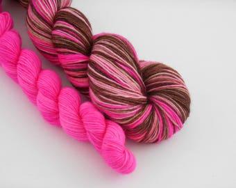 LOVE SOCK self-striping, 003, merino nylon sock yarn,100g