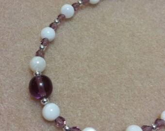 Girls Birthstone Crystal Necklace - FEBRUARY