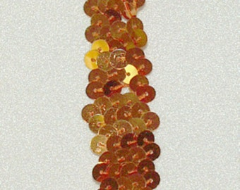 """Sequin Trims Orange Stretch Sequin Trim ~~3/4"""" Wide~ 2 Row~~By the Yard~New-Shipped free"""
