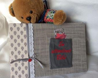 "Pregnancy scrapbook album pregnancy journal ""waiting for baby"" unique scrapbooking technique"