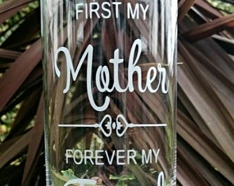 First My Mother, Forever My Friend Engraved Glass Vase - Mothers Day