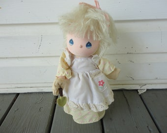 Precious Moments, Musical Doll, Jessy, Applause, Gardener, Applause, 1980s, Vintage Doll, Springtime, Vintage precious Moments, Flowers