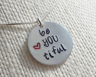 beYOUtiful Handstamped Necklace