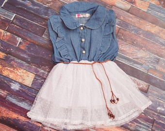 SALE Denim Lace Dress SALE 9.99
