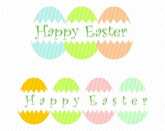 Happy Easter SVG, Easter Svg, Easter Eggs SVG, Happy Easter, Silhouette Cut Files, Cricut Cut Files, Svg Files
