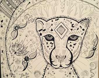 Print Cheetah muse pen and paper