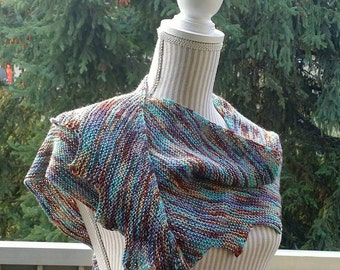 Spiral Staircase Scarf, Knit Cowl, Knit Scarf, Winter, Cable, Knit, Scarf, Cowl, Handmade, Spiral Staircase, Lightweight Scarf, Blue Scarf