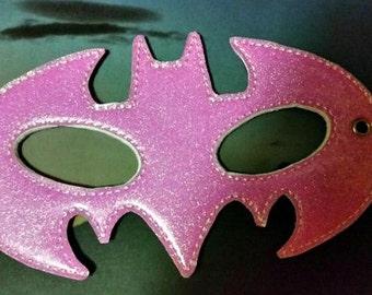 Child's Mask - Batman - Pink Glitter Vinyl - Bat Girl