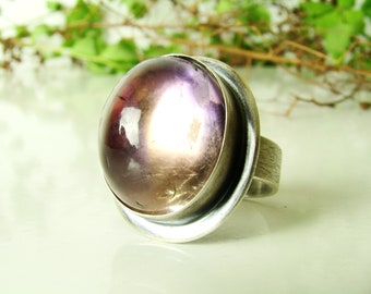 Ametrine Ring, Sterling Silver 925,Oxidised,Handmade,Coctail Ring,Statement Rings