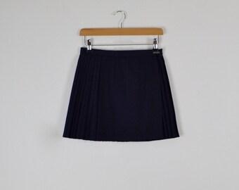 Vintage 60s Sports Skirt  |  Vintage Navy Pleated Mini Skirt  |  Navy Vintage Hockey Skirt  |  Vintage Netball Skirt