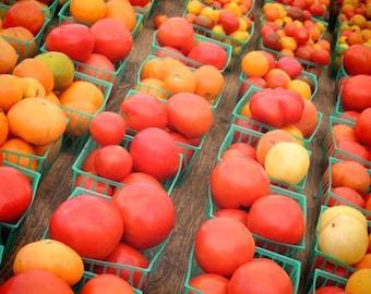 New York Tomato  - food photograph - Kitchen Art - Wall Decor - Farmer's Market Art - Tomatoes Photograph - New York Vegetable Market