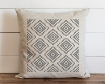 Aztec Pattern 20 x 20 Pillow Cover // Everyday // Tribal  // Throw Pillow // Cushion Cover // Gift for them // Accent Pillow