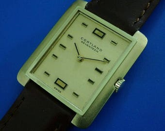 Exquisite 1970s Vintage Mans CORTLAND By *CONCORD* Hand Windin, Stunning Dial!