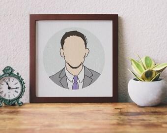 Custom 'Faceless' Portrait Illustration