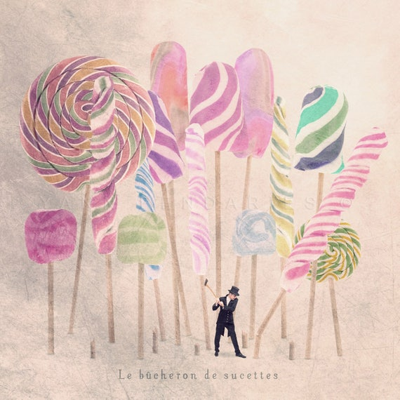 Lollipop themed photography, Tiny trades print, Candies and sweetw, Candyland decoration, kitchen decor, fun kitchen art, kitchen art print