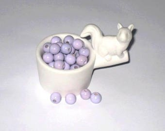 50 wooden pacifier Lavender 10 mm beads