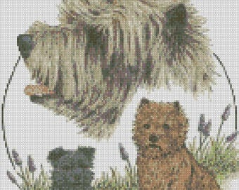 Cross Stitch Chart or Complete Kit The Cairn Terrier Dog