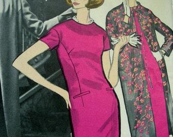 Vintage VOGUE Paris Original Jacques Griffe Pattern 1269 - Designer Evening Dress, Coat and Slip - size 12