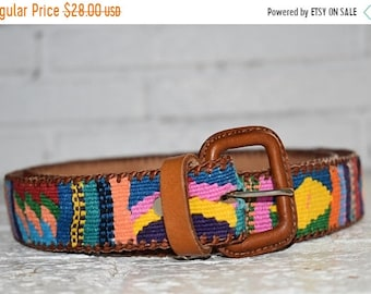 authentic Guatemalan leather belt