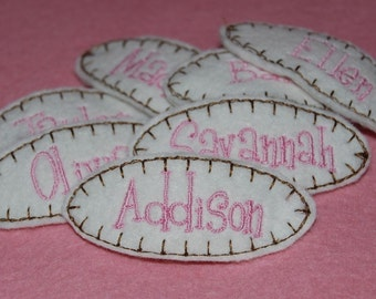 Personalized Wool Felt Name Hair Clip by Chic Baby Rose