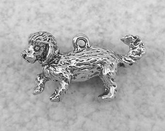 Green Girl Studios Pewter Bichon Frise Dog Bead