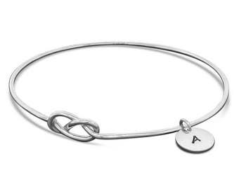 Sterling Silver Personalized Jewelry - Handmade Knot Bracelet Gift for Her - Celtic Knot Infinity Bracelet
