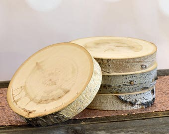 Aspen Tree Slice - 8 to 9 inch - 1.5 inch thick - Rustic Wedding Decor, Cake Stand ~ Summer Wedding