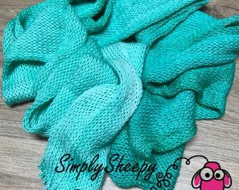 Hand dyed yarn Tiffany Blue