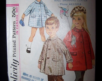 Vintage Simplicity Pattern 5685 1960s Boys Girls Size 4  1960's