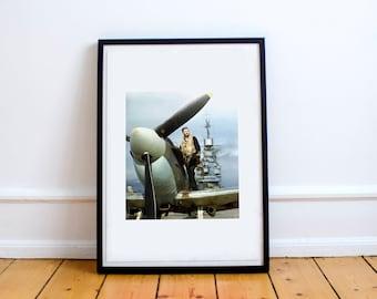 Vintage RAF print - Bachelor pad print - Wall decor, mens gift