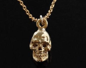 Gold Skull Necklace - 18kt gold