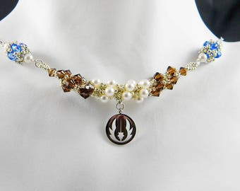 """SW Knight Beadweaving Necklace """"The Light Side"""""""