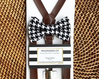 Black Bow Tie, Leather Suspenders, Houndstooth Bow Tie, Christmas Bow Tie, Baby Bowties, Checkered Bow Tie, Toddler Bow Ties, Baby Bow Tie