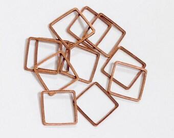 50 pcs de Antique en cuivre plaqué laiton maillons carrés 12mm