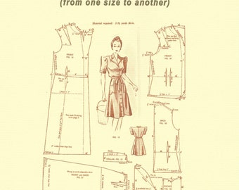 "BOOKLET - ""A Guide to Grading Resizing Vintage Sewing Patterns"" Compiled by The Vintage Pattern Store known as tvpstore on etsy"