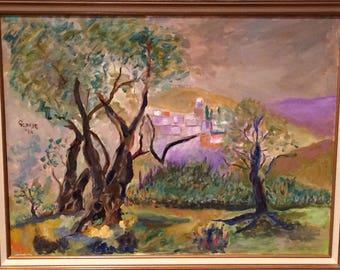 Tree Painting/ Original Oil Painting by George Abrahams