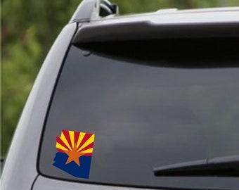 Arizona State Flag Color Bumper Sticker