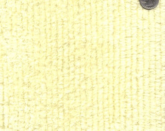 """56"""" Wide Maize Cotton Chenille Yellow By the Yard (TC0512)"""